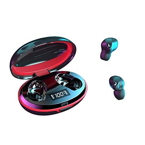 Auriculares inalámbricos Bluetooth con pantalla digital LED, Smart Touch, impermeable 5.0 Hifi calidad de sonido, compatible con dispositivos iOS y Android, teléfonos móviles, ordenadores, tabletas