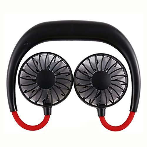 SMEJS Ventilatore Portatile Hands-Free Neck-Free Hands-Free Appeso USB Ricaricabile Dual Fan Mini Aria Condizionatore/Ventilatore di Raffreddamento per Lo Studente della Stanza (Color : B)