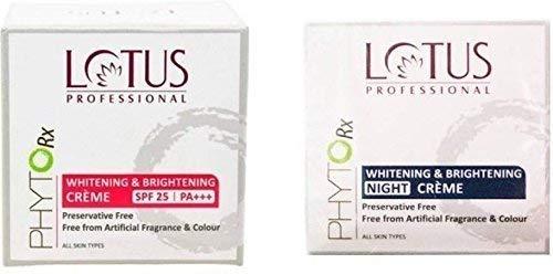 Lotus Herbals Professional Phytorx Whitening & Brightening Day & Night Creme (Set Of 2)