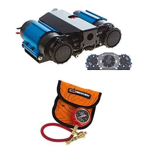 ARB CKMTA12 ARB505 On-Board Twin High Performance 12 Volt Air Compressor and E-Z Deflator Bundle