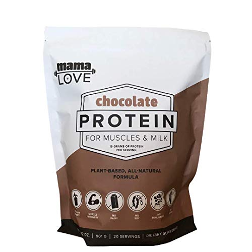Chocolate Protein For Muscles & Milk | Lactation Protein Powder for Breastfeeding Women | Supports Nursing Moms Breast Milk & Muscle Recovery | Organic | Vegan | Plant Based | Probiotics | 20 Servings