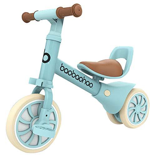 Zeroall 2 en 1 Bicicleta sin Pedales Bicicleta de Equilibrio con Pedales Desmontables,Bebes Bicicleta Baby Balance Bicicleta para Niños/Niñas 10-36 Meses Caminar Indoor|Outdoor(Azul Claro)