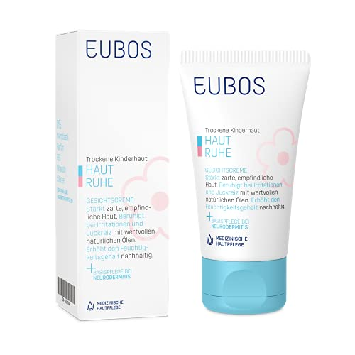 Eubos | HAUT RUHE Gesichtscreme| 30ml | für empfindliche und trockene Kinder- und Babyhaut | Hautvertäglichkeit dermatologisch bestätigt| ohne Mineralöl