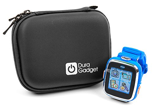 Kidizoom Smartwatch Case - Premium Quality Shock Absorbent Blue Shell Case with Carabiner Clip & Dual Zip Function for Kidizoom Smartwatch DX2 | DX | Connect DX | Plus | Plus 2 | 2 |-by DURAGADGET