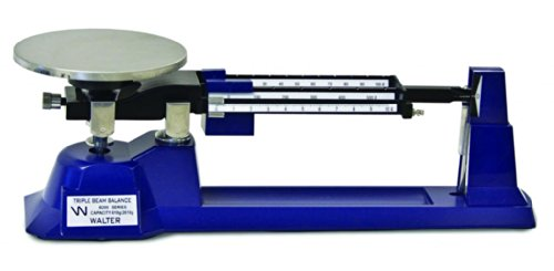 Walter Products B-300-W-O Economy Triple Beam Balance with Tare and Weight Set, 2610 g Capacity