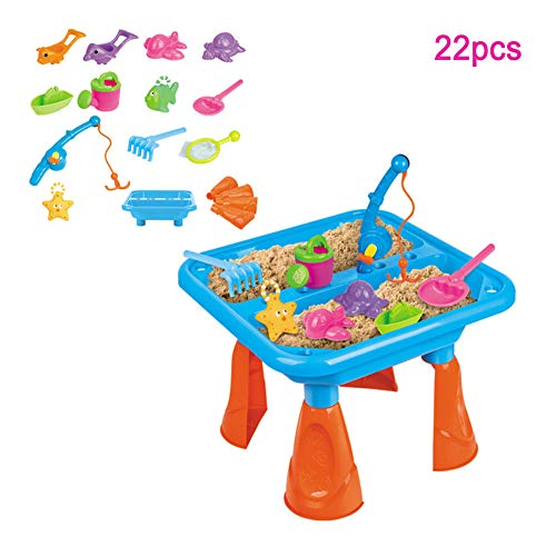 Zand En Water Speeltafel Kids Outdoor Garden Game & Sandpit Toys Accessories22pcs