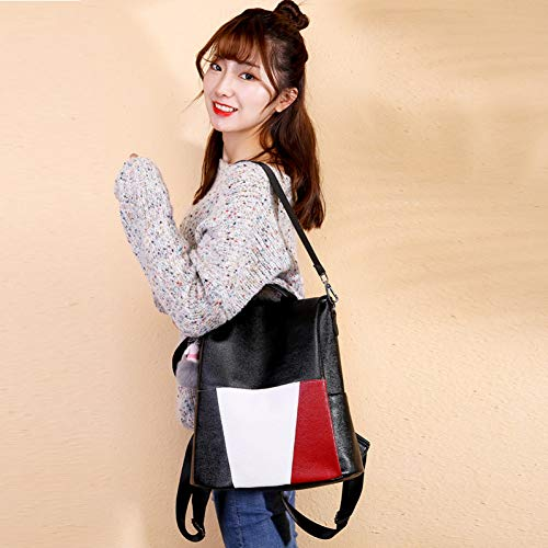 PCBDFQ damestas vrouwen anti-diefstal zak casual vrouwelijke rugzak PU leer werk daypacks grote capaciteit, eenvoudige kwaliteit schouder tas