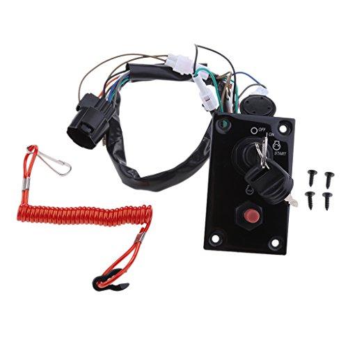 IPOTCH Conjunto de Panel de Interruptor de Encendido Fueraborda Marino de 12V 37100-96J14 para Suzuki