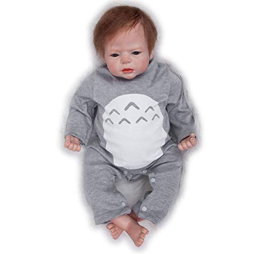 ZIYIUI 22 Pollici 55 cm Bambola rinata Fatto a Mano Reborn Doll Vinile Morbido Silicone Bambola Reborn Bambolina addormentata Partner di Crescita