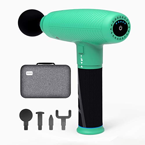 Massage Gun, Deep Tissue Percussion Muscle Massage Gun for Therapy and Relaxation, Powerful Quiet Cordless Handheld ElectricMuscle Massager Gun for Athletes Relieving Pain, Soreness and Stiffness