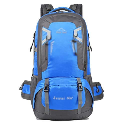 TEYUN - Mochila deportiva para exteriores, 60 l, bolsa de viaje para montañismo (color azul, tamaño: 60 L)