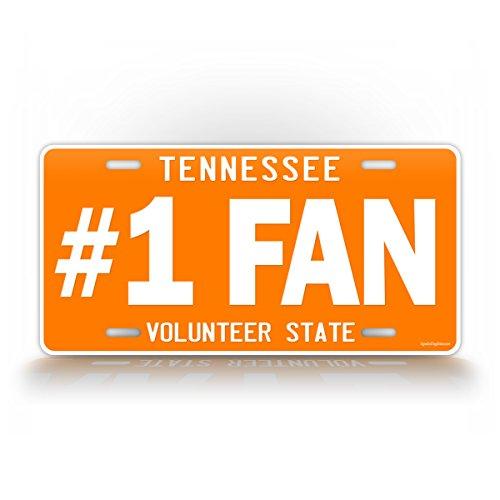 VOLS #1 FAN Tennessee License Plate TN Auto Tag Volunteers Big Orange College Football