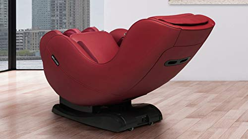 WELCON Massagesessel EASYRELAXX in rot, L-Shape, 3D Automatikprogramme Knetmassage Klopfmassage