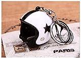 Familienkalender offener Helm ohne Visier Schlüsselanhänger mit Stern in Weiss Motorrad   Moped   Geschenk für Männer   Sturzhelm   Motorradhelm   Schutzhelm