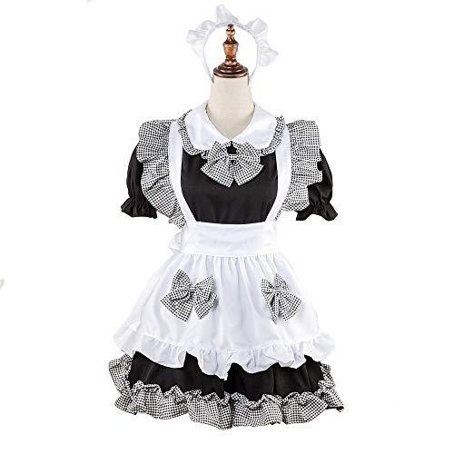Grossartig halloween jurken meid service meid service westerse restaurant ober kleding uniform pak halloween kostuum