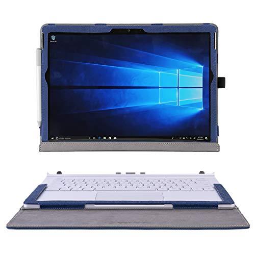 Eaivodo Funda para Surface Book 3 de 15 pulgadas con cierre magnético, funda para Surface Book 2 de 15 pulgadas con anillo para bolígrafo, color azul