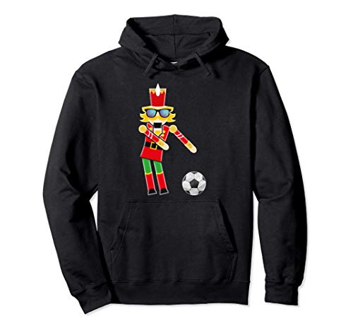 Christmas Soccer Flossing Nutcracker Gifts Pullover Hoodie