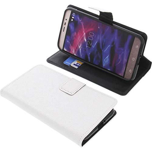 foto-kontor Tasche für MEDION Life P5006 Book Style weiß Schutz Hülle Buch