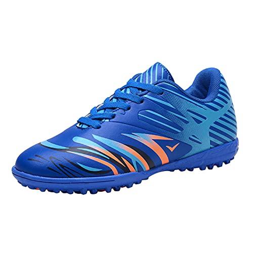 Dinnesis Zapatos de bebé para niños pequeños, para exteriores, antideslizantes, zapatos de fútbol, zapatos de piel suave, zapatos de aprendizaje, zapatillas de deporte, azul, 36 cm