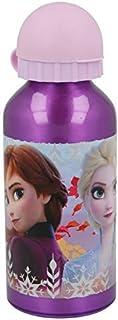 ML Botella de Agua de Aluminio para niños y niñas, Princesa del Hielo cantimplora térmica a Prueba de Fugas sin BPA para Levar a la Escuela y Deportes el Termo 400ml Fuxia