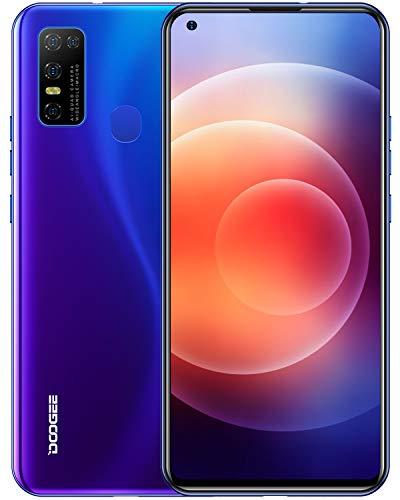 DOOGEE N30 Moviles Libres, Pantalla de 6.55' DotDisplay, 4 GB+128 GB, 4G Smartphone Cámara Cuádruple 16 MP, 8MP Frontal Cámara, Procesador Octa-Core, Batería 4500 mAh, Android 10 Telefono Movil, Azul