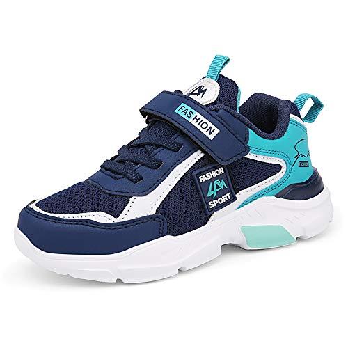 DUORO Kinder Sportschuhe Sneaker Jungen Mädchen Outdoor Atmungsaktive Turnschuhe Running Schuhe Straßenlaufschuhe (31 EU, A-Blau)