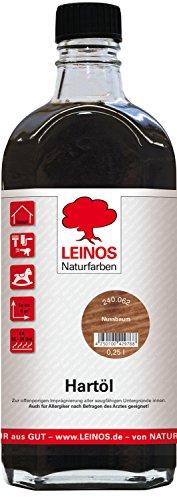 Leinos 240 Hartöl für Innen 062 Nussbaum 0,25 l