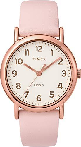 Timex Damen Quarz Weekender 38 mm Uhr mit Leder Armband TW2T30900