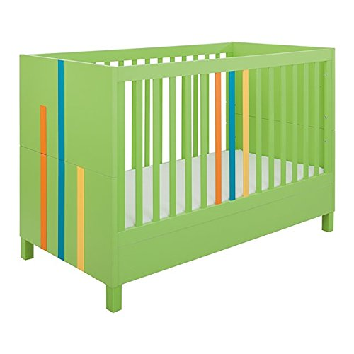 Little Guy Comfort Hometown Children's Convertible 3 in 1 Crib and Youth Toddler Bed Conversion Kit, Large, Lime Green