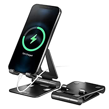 Nulaxy A4 Cell Phone Stand Fully Foldable Adjustable Desktop Phone Holder Cradle Dock Compatible with Phone 11 Pro Xs Xs Max Xr X 8 iPad Mini Nintendo Switch Tablets  7-10   All Phones
