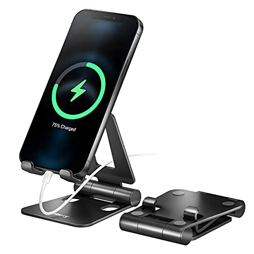 Nulaxy A4 Cell Phone Stand, Fully Foldable, Adjustable Desktop Phone Holder Cradle Dock Compatible...