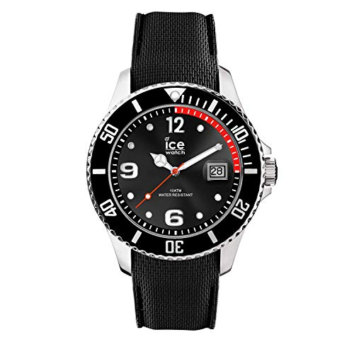 Ice-Watch - ICE steel Black - Men\'s wristwatch with silicon strap - 015773 (Large)