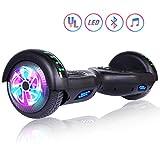 Felimoda Hoverboard, 6.5 Inch Two-Wheel Self Balancing Hoverboards - LED Light Flashing Wheel for Kids (Black)