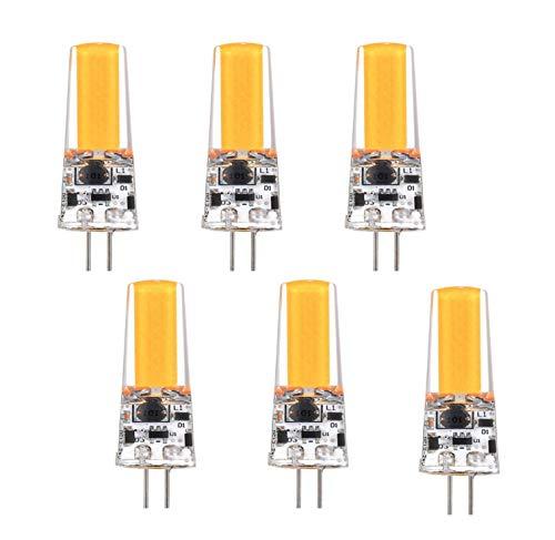 Bombilla LED G4 de 5 W Que reemplaza a la Bombilla halógena de 50 W, Blanco cálido, de Dos Clavijas, 2508-COB, Mini Bombilla T3 Regulable para gabinete, Paisaje, lámpara de araña, Bombillas para ele