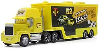 Pixar Cars Toys Lightning McQueen Jasckson Storm The King Mack Hauler Truck Diecast Toy Cars 1:55 Loose Kids Toys Vehicle (No. 52 Leak Less Truck)