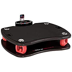 Ultrasport vibration plate 3D, vibrating plate for effective fitness training, loadable up to 100 kg, vibration plate with remote control and training bands, ideal deep muscle training