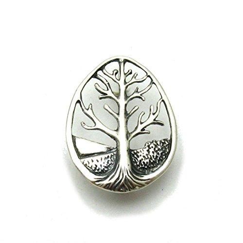 Broche de plata de ley 925 árbol de la vida A000109