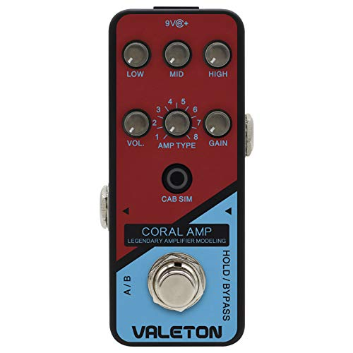 VALETON モデリングアンプ/プリアンプ with キャビネットシュミレーター CRL-5 / CORAL AMP