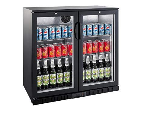 Profi Flaschenkühlschrank, 208 Liter, 0° C/ +10° C, Umluftkühlung, abschließbar, GGG LG-208H
