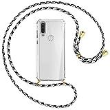 mtb more energy Collar Smartphone para Motorola One Action (6.3'') - camouflaje Blanco/Oro - Funda Protectora ponible - Carcasa Anti Shock con Correa para Hombro