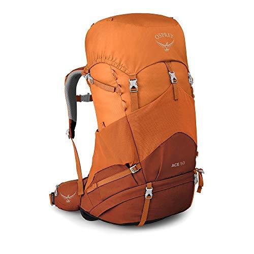 Osprey Ace 50 Mochila Infantil de Senderismo, Unisex niños, Orange Sunset, O/S