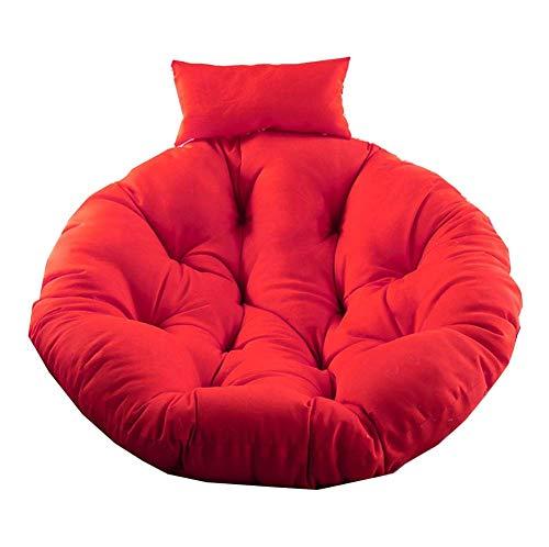 DrakSun Cojines para Canasta Colgante para sofá Silla Colgante para Huevos Cojín para Silla Silla sólida Grande Almohadillas de Color Impermeables Cojines para Asiento -105cm/41 Rojo