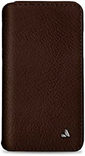 Vaja Wallet Agenda Leather Case for iPhone X - Hard Polycarbonate Frame, 4 Credit Card Slots - Pinecone and London