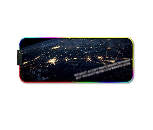 Lichtgevende muismat led magische muismat (Kleur : F, Maat : 400 * 900 * 4mm)