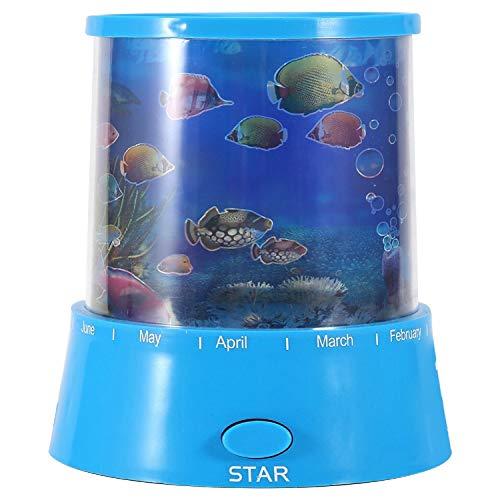 Romantische led-projectorlamp, projector, oceaanlamp, aquarium, nachtlampje, kleurrijk licht, slaapkamerdecoratie, voor kinderen, cadeau