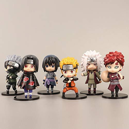 Juego de 6 figuras pop con forma de personajes de Naruto