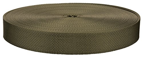 1 Inch Olive Drab Green 7 Lite Weight Nylon Webbing Closeout, 10 Yards
