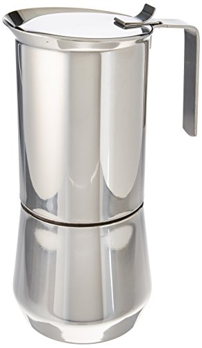 ILSA 122-10, Stainless Steel Stove-Top Espresso Maker, 10- cup