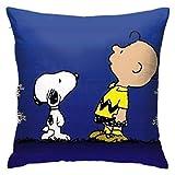 Swnoopy y Charlie Brown miran la luna Decoración para el hogar Fundas de almohada Set Fundas de cojín Fundas de almohada para sofá Dormitorio Coche 45X45 Cm