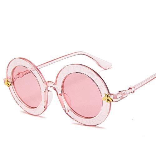 Gafas de Sol Gafas De Sol Pequeñas Abejas Gafas De Sol De Montura Redonda Hombres Mujeres Gafas Retro Gafas De Sol De Tendencia Uv400 C1
